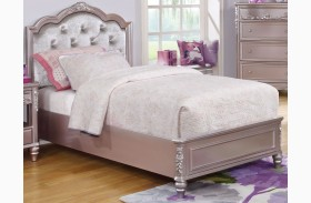 Caroline Metallic Lilac Youth Platform Bed