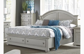 Summer House II Gray Storage Bed