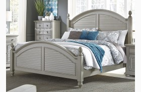 Summer House II Gray Poster Bed