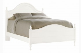 Coastal Living Saltbox White Bungalow Panel Bed