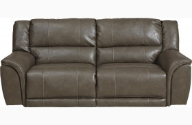 Carmine Smoke Reclining Sofa