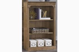Cumberland Creek Rustic Oak Open Bookcase