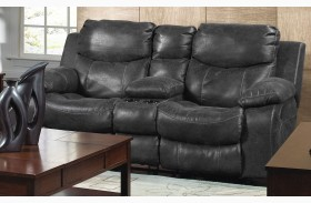 Catalina Steel Reclining Loveseat with Console