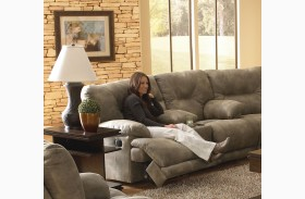 Voyager Brandy Reclining Loveseat with Console
