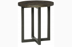 District Round Accent Table