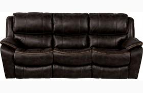 Beckett Black Finish Reclining Sofa