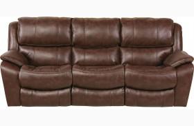 Beckett Java Finish Reclining Sofa
