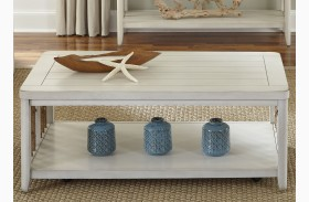 Dockside II White Finish Cocktail Table