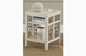 Dockside II White Finish Chair Side Table