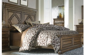 Amelia Antique Toffee Panel Bed
