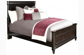 Aryell Dark Panel Bed