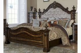 Chamberlain Court Rich Auburn Upholstered Bed