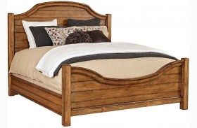 Bethany Square Brown Panel Bed