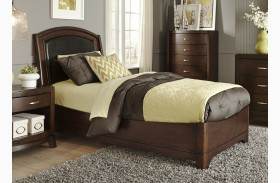 Avalon Truffle Youth Leather Bed