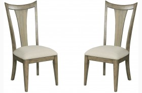 Evoke Barley Finish Dining Side Chair Set of 2
