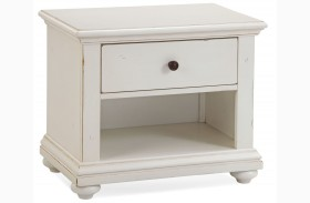 Pathways White Small Nightstand