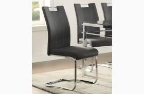 Watt Grey Finish Side Chair Set of 2