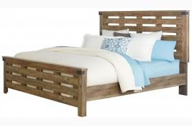Montana Rustic Buckskin Panel Bed