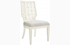 Coastal Living Oasis Saltbox White Finish Catalina Side Chair