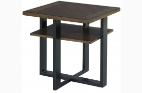 Franklin Warm Cherry Accent Table