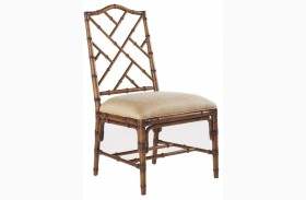 Island Estate Plantation Brown Finish Ceylon Side Chair