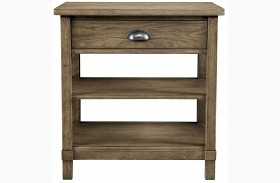 Driftwood Park Sunflower Seed Finish Bedside Table