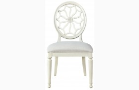 Sojourn Summer white Finish Side Chair