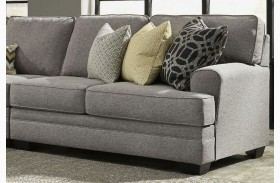 Cresson Pewter Finish RAF Loveseat