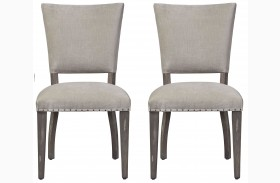 Curated Greystone Finish Pearson Chair Set of 2