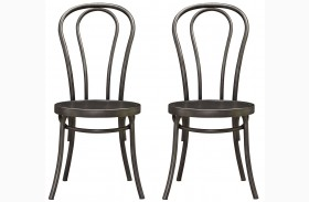 Curated Greystone Finish Bistro Chair Set of 2