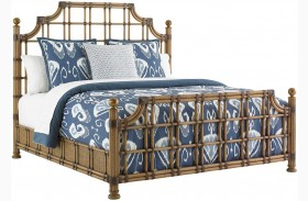 Twin Palms St. Kitts Rattan Panel Bed