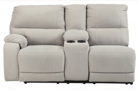 Bohannon Putty Left Arm Facing Double Power Reclining Console Loveseat
