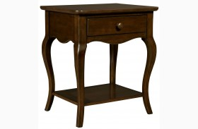 Teaberry Lane Midnight Cherry Finish Bedside Table