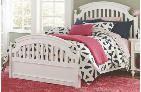 Academy White Youth Panel Bed