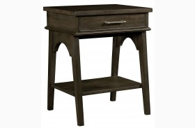 Chelsea Square Raisin Finish Bedside Table