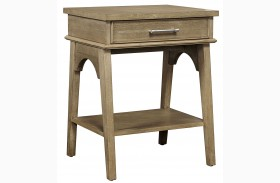 Chelsea Square French Toast Finish Bedside Table