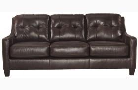 O'Kean Mahogany Finish Sofa