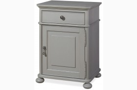 Dogwood Cobblestone Finish Door Nightstand