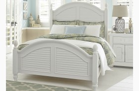 Summer House Oyster White Poster Bed