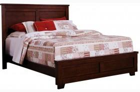 Diego Espresso Pine Panel Bed