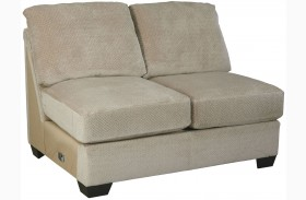 Hazes Fleece Finish Armless Loveseat