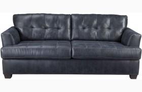 Inmon Navy Finish Sofa