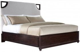 Virage Truffle Upholstered Bed