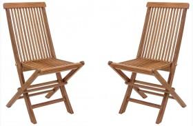 Regatta Natural Finish Folding Chair Set of 2