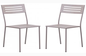 Wald Taupe Finish Dining Chair Set of 2