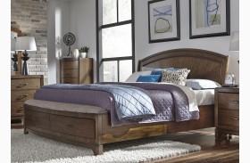 Avalon III Pebble Brown Panel Storage Bed