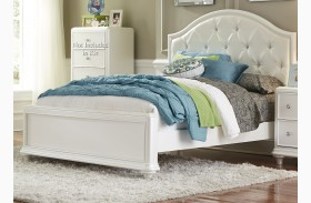 Stardust Iridescent White Youth Panel Bed