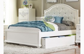 Stardust Iridescent White Youth Panel Trundle Bed