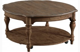 Weatherford Heather Bolton Round Cocktail Table
