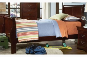 Lewiston Deep Brown Youth Sleigh Bed